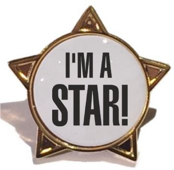 I'M A STAR! star badge